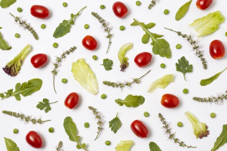 Jolie composition de légumes